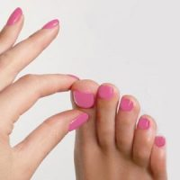 pastel pink nails, nail colours, martin & phelps, beauty salon, cheltenham