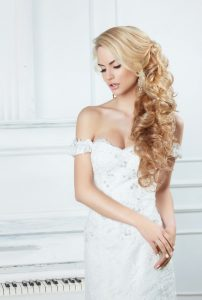 Hair Extensions for Brides at top Cheltenham hair salon