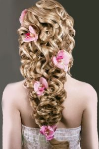 bridal hairstyles with hair extensions at top Cheltenham hair salon