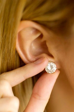 Ear Piercings, Martin & Phelps Beauty Salon, Cheltenham, Gloucestershire